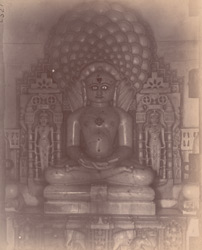 Image of the Jain tirthankara Parsvanatha in an unnamed temple, Satrunjaya